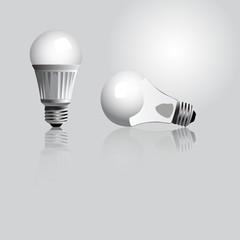 Vector illustration of light bulbs