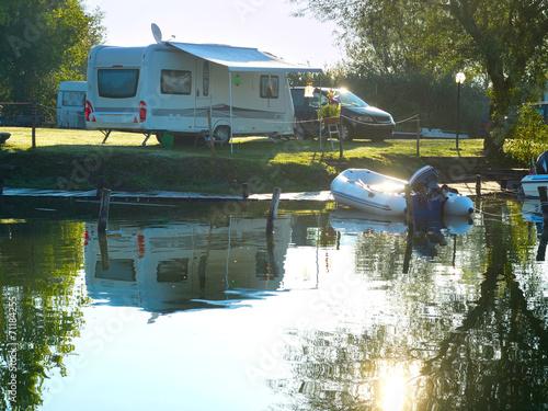 Fotobehang Kamperen Campsite scene