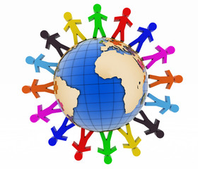 Global communication concept. World partnership.