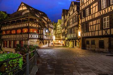 Улицы Страсбурга ночью