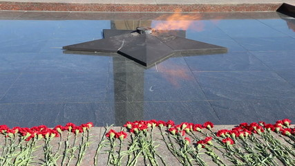 Eternal Flame at Victory Park on Poklonnaya Hill , Moscow