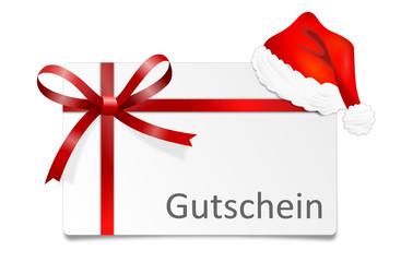 Gutschein Weihnachten Schleife