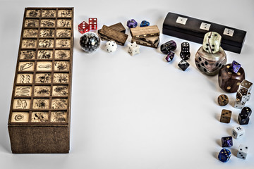 Senet and dices