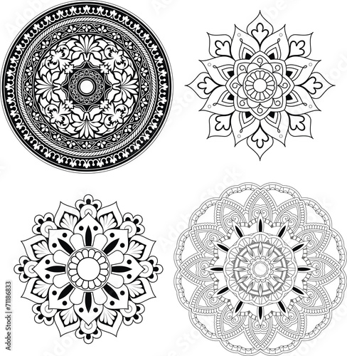 mandala set filigran stockfotos und lizenzfreie vektoren. Black Bedroom Furniture Sets. Home Design Ideas