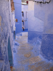 Backstreet of the Blue City of Chefchouen