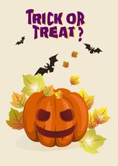Halloween background illustration with pumpkin
