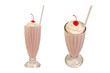 Milk shakes isolated on white - 71187271