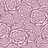 Etched Roses Seamless Pattern poster