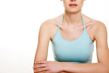 woman confident arms folded isolated