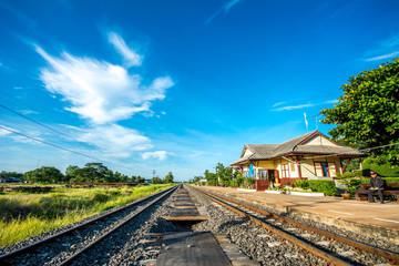 Thai old style railway station