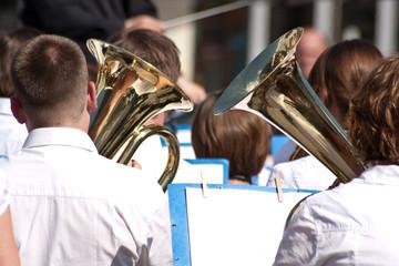 orchester aus Straßenmusikern