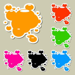 Multicolored blots. Set