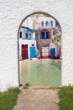 Fototapeta Traditional Greek architecture on Milos island