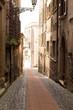 canvas print picture - Alter schöne Weg in Pofi / Italien