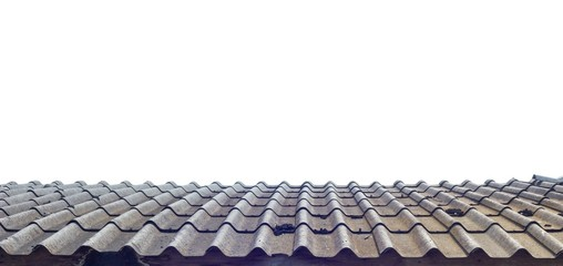 roof of house isolated on white background