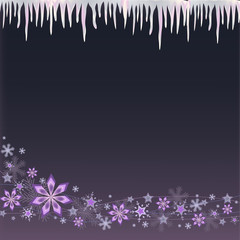 icicle and snowflake background