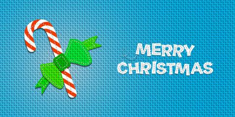 Vector Christmas Candy Cane