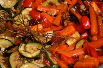 Gebratenens Gemüse