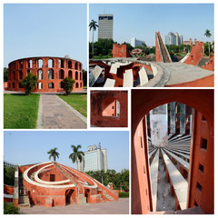 Famous Delhi landmark - ancient astronomical observatory