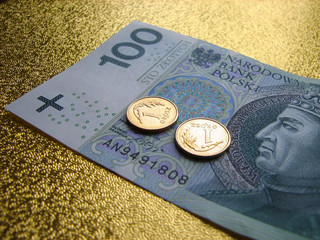 Number 100 Polish money - Stock Image