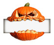 canvas print picture - Halloween Blank Sign