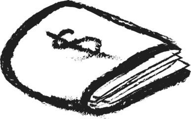 doodle wallet icon