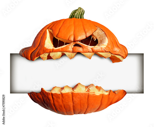 canvas print picture Halloween Blank Sign