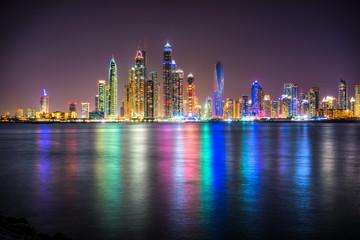 Dubai Marina at night, Dubai.