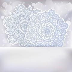 Card with  Christmas snowflake