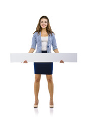 Business woman with copy space