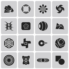 geometric figures Black icons set3. Vector Illustration eps10