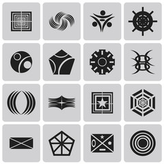 geometric figures Black icons set2. Vector Illustration eps10