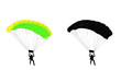 skydiver silhouette and illustration - vector - 71193255