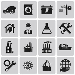 Industry Black icons  set3. Vector Illustration eps10