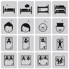 sleep concept black icons set2. Black Vector Illustration eps10
