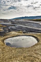 Mud volcano crater