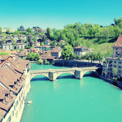 Bern and Aare river, Switzerland
