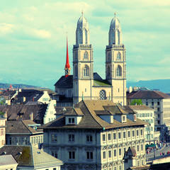 Zurich Grossmunster, Switzerland