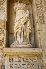Headless statue in ancient city of Ephesus