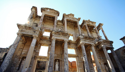 Ancient library in Ephesus,Turkey.