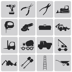 construction tool Black icons set3. Vector Illustration eps10