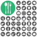 Fototapety Breakfast and Dining Icons set. Vector Illustration eps10