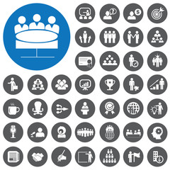Conference icons set. Vector Illustration eps10