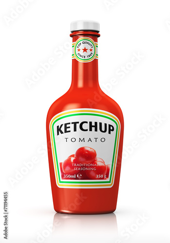 Papiers peints Condiment Bottle with tomato ketchup