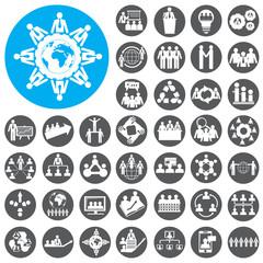 Teamwork icons set. Vector Illustration eps10