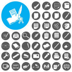 Writing icons set. Vector Illustration eps10