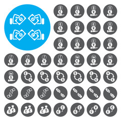 Currency exchange Finance icons set. Vector Illustration eps10