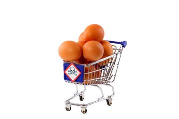 Salmonellen in Eiern