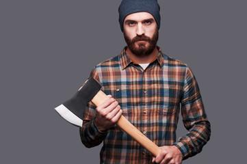 Serious lumberjack.