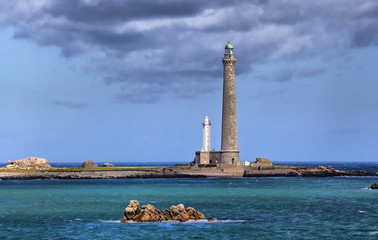 Ile Vierge lighthouses,  Brittany, France